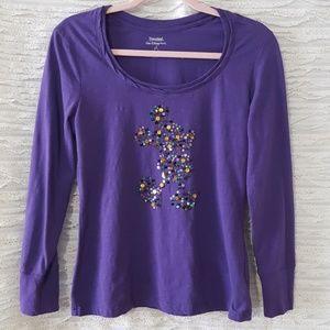 Disney purple mickey long sleeve shirt